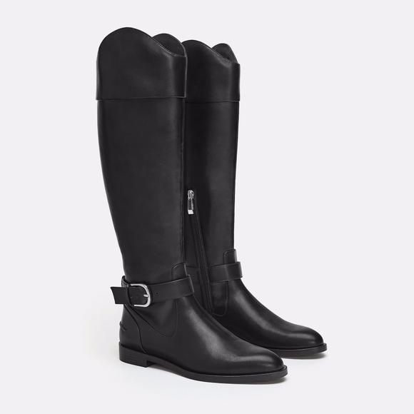 Sale Zara Vegan Leather Tall Riding